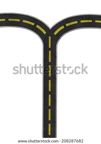 Turn left and right - stock photo