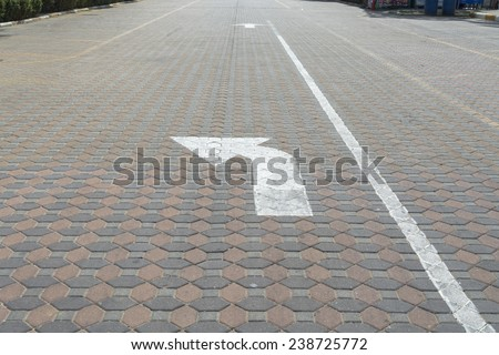 Turn left on the road - stock photo