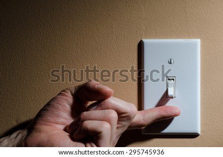 Turn me on - stock photo