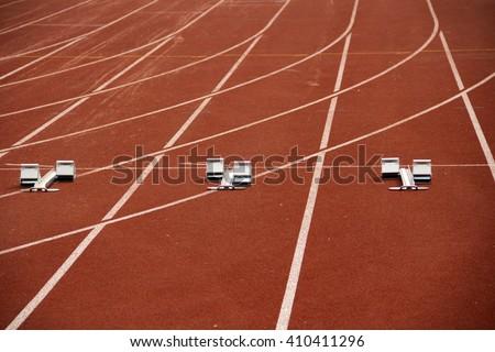 turn of racetrack - stock photo