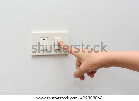 turn off light. save energy concept