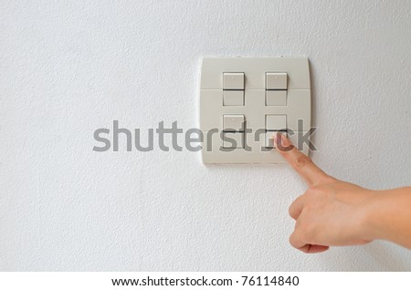 turn off switch - stock photo