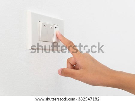 Turn switch on to save energy