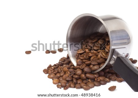 turned coffee pot at white