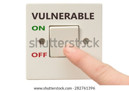 Turning off Vulnerable with finger on electrical switch