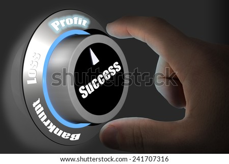 Turning the dial to the future success of  profit forecast - stock photo