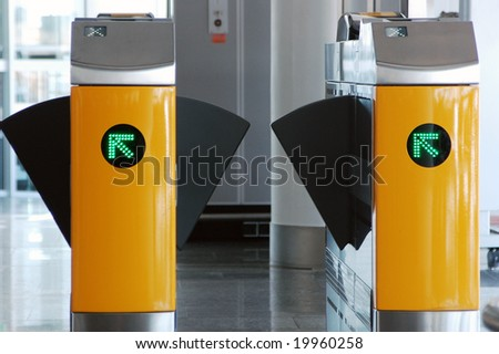 turnstile - stock photo