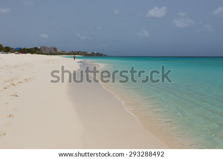 Turqouise Beach of Anguilla, Caribbean - stock photo