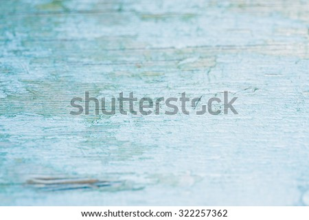 Turquoise bright colored old vintage wood with vertical boards. Grunge wooden background. Shabby chic France Provence style. Green blue sea color - stock photo