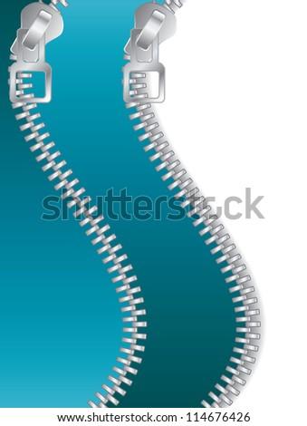 Turquoise Double Zippered - stock photo