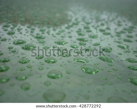 Turquoise drops of water - stock photo