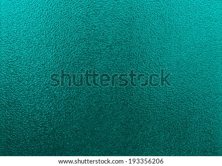 Turquoise frosted glass texture as background  - stock photo