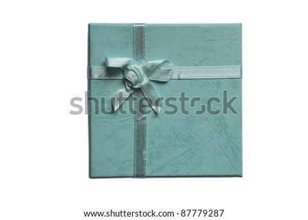 Turquoise gift box with a bow