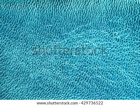 Turquoise leather texture background  - stock photo