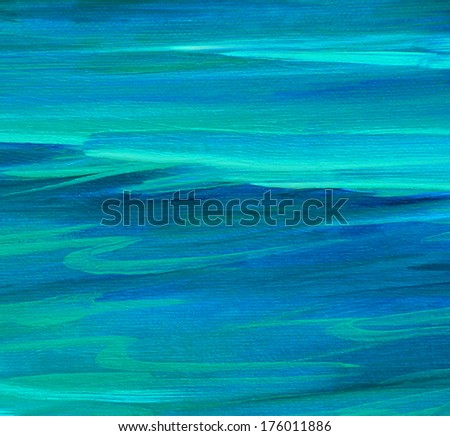 turquoise sea water  wave , illustration, background - stock photo