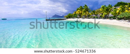 Turquoise tropics - amazing beaches of Mauritius island