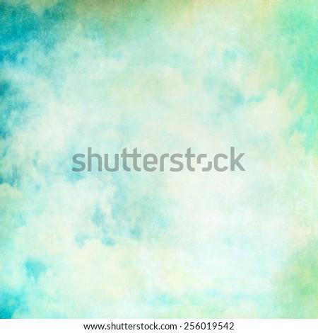 Turquoise vintage pastel background texture - stock photo