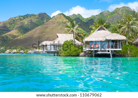 turquoise water! - stock photo