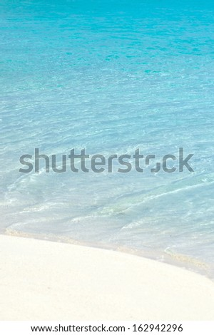 Turquoise water and white sand   - stock photo