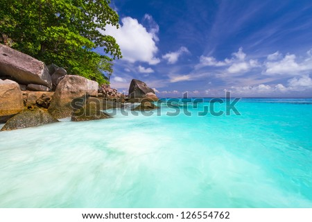 Turquoise water of Andaman Sea at Similan islands, Thailand