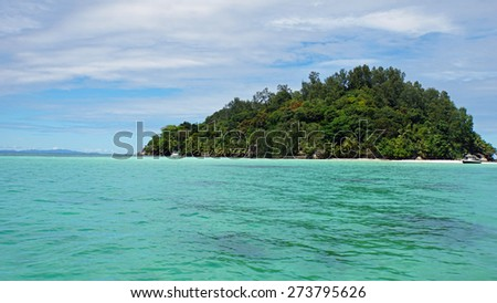 turquoise water of indian ocean on mahes coast