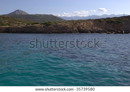 turquoise waters and wild Mediterranean coasts from a boat