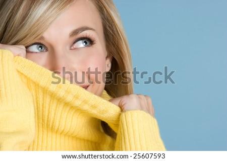 Turtleneck Woman - stock photo