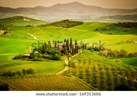 Tuscany, italian landscape - stock photo