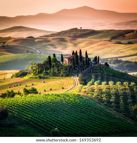 Tuscany, italian landscape - stock photo