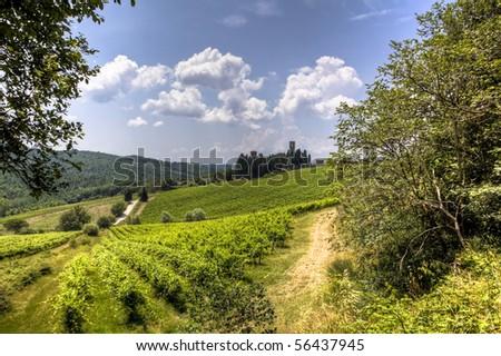 tuscany landscape - stock photo