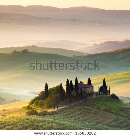 Tuscany, Landscape and Countryhouse