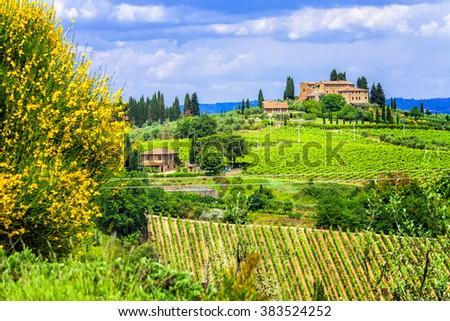 Tuscany scenery, Italy - stock photo