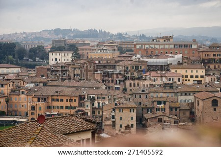 Tuscany Siena - stock photo