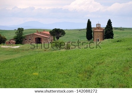 Tuscany, Vitaleta - stock photo