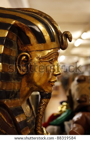 Tutankhamen in a prop house