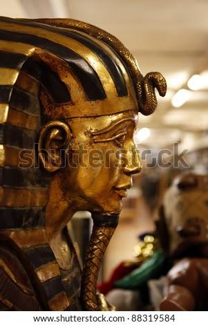 Tutankhamen in a prop house - stock photo