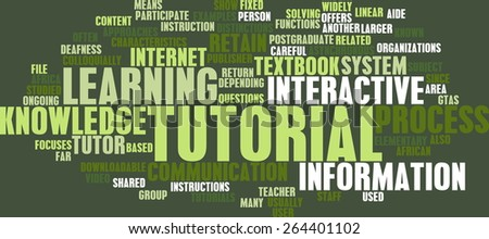 Tutorial Concept as a Method of Learning Online - stock photo