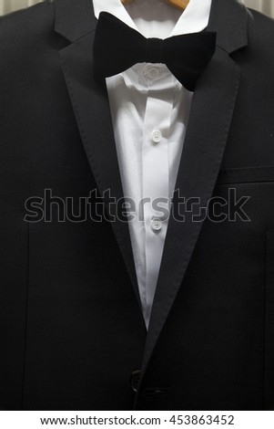 Tuxed  with bow tie - stock photo