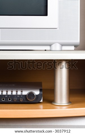 TV and DVD player - stock photo