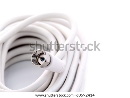 TV cable with Quick-Fix connectors - stock photo