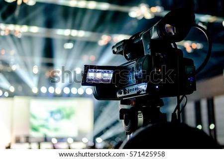 Tv Camera Concert Hall Stock Photo 571425958 - Shutterstock