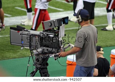 TV Camera Operator - stock photo