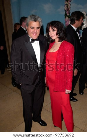 TV chat show host JAY LENO & wife at the Carousel of Hope Ball 2000 at the Beverly Hilton Hotel. 28OCT2000.   Paul Smith / Featureflash - stock photo