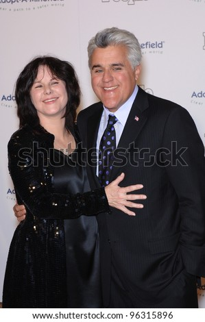 TV chat show host JAY LENO & wife MAVIS at the fifth annual Adopt-A-Minefield Gala in Beverly Hills. November 15, 2005  Beverly Hills, CA.  2005 Paul Smith / Featureflash - stock photo