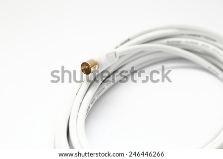 TV coaxial cable  - stock photo