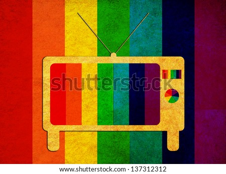 tv -colorful no signal grunge background.,A vintage background - stock photo
