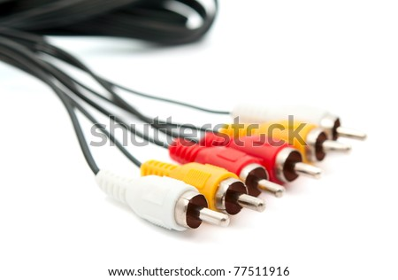 TV connectors on a white background