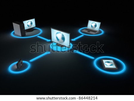 Tv home network - stock photo