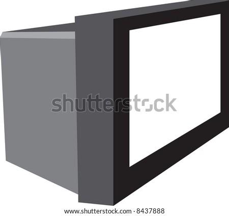 Tv illustration - stock photo