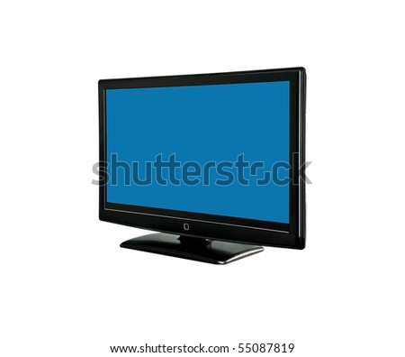 tv monitor on white background. - stock photo
